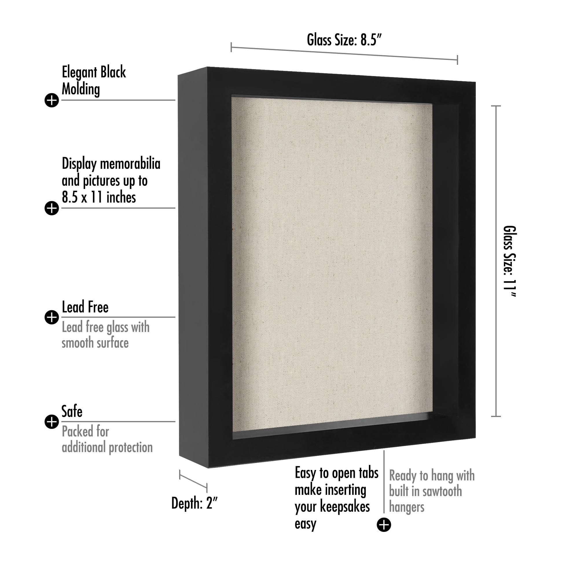 8.5x11 Inch Document Shadow Box Frame with Soft Linen Back - Walmart.com