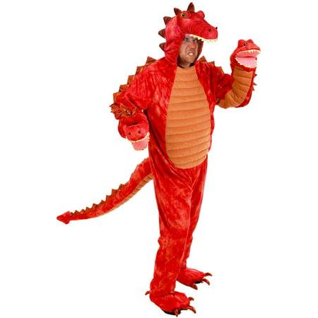 Halloween Adult Hydra 3 Headed Dragon Costume (Halloween G Dragon)