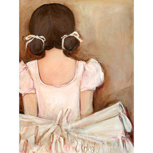 Oopsy Daisy - Lovely Ballerina - Brunette Canvas Wall Art 14x18, Kristina Bass Bailey