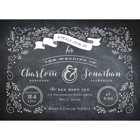 Garden Scroll Standard Wedding Invitation](Lantern Wedding Invitations)