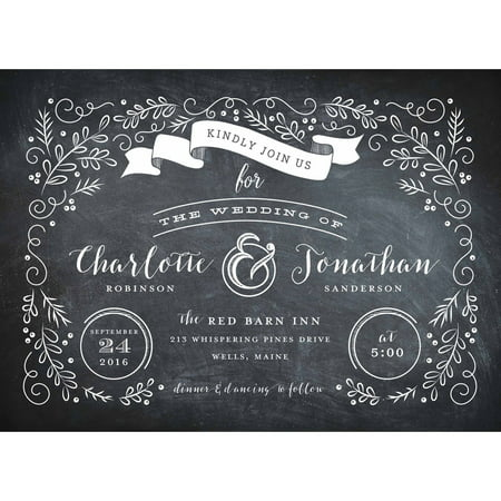 Garden Scroll Standard Wedding Invitation (Wedding Scroll)