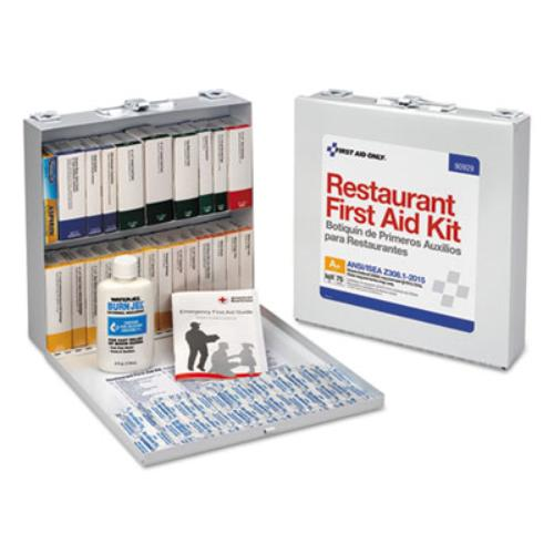 ANSI 2015 Compliant Industrial First Aid Kit, 212 Pieces, Metal Case