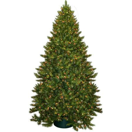Pre-Lit 8.5' Vermont Fir Artificial Christmas Tree, 900 Multi Lights ...