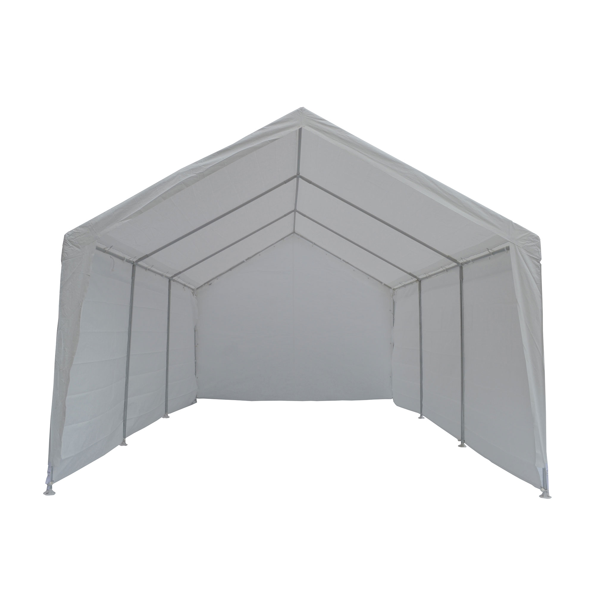 True Shelter 10' x 20' Car Canopy Gazebo Tent Cover 8 Legs Steel Frame Garage