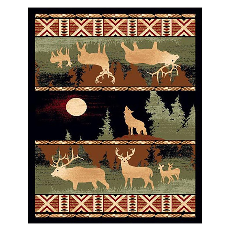 DonnieAnn LG382 Lodge Area Rug - Black