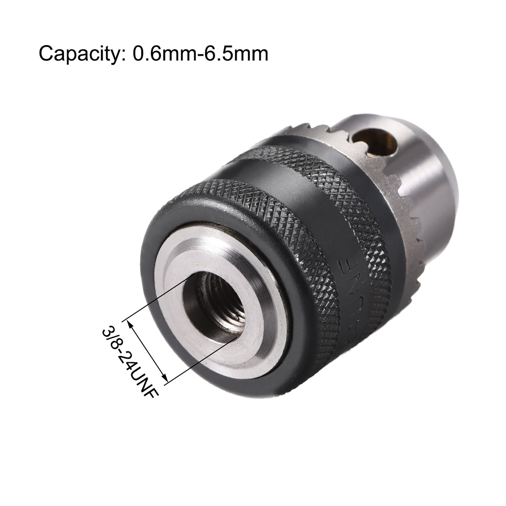 Keyed 3//8-24UNF Mount 0.6-6mm Spanner Drill Chuck Set