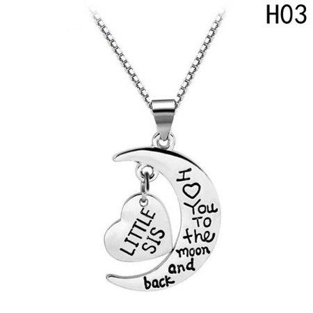 KABOER Little Middle Big Sister Good Sister Heart Necklace Pendant Necklace Gift
