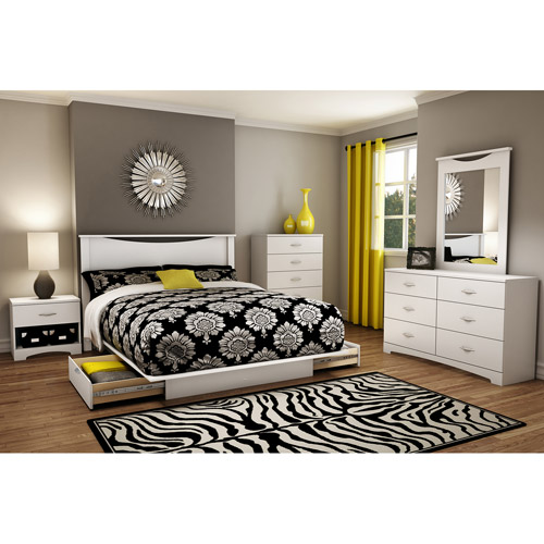 South Shore Soho Full/Queen Storage Platform Bed, White