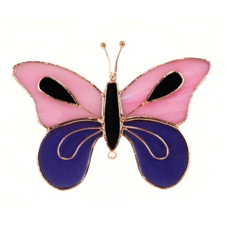 Gift Essentials GE149 Pink & Purple Butterfly Sun Catcher
