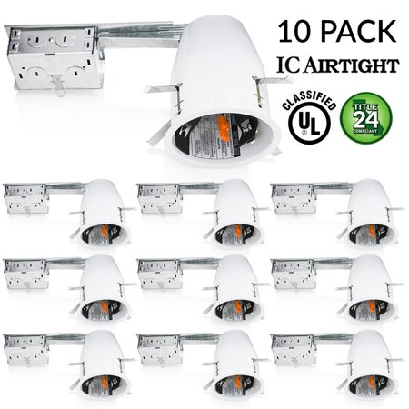 Sunco 10 pack 4 inch remodel led can air tight ic housing led sunco 10 pack 4 inch remodel led can air tight ic housing led recessed aloadofball Images