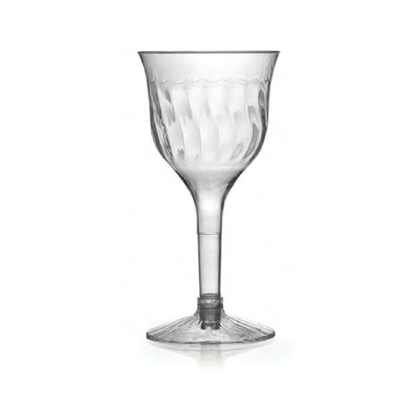 Halloween Plastic Wine Goblets (6 oz 2 Pieces Wave Plastic Wine Goblet,Pack of 10)