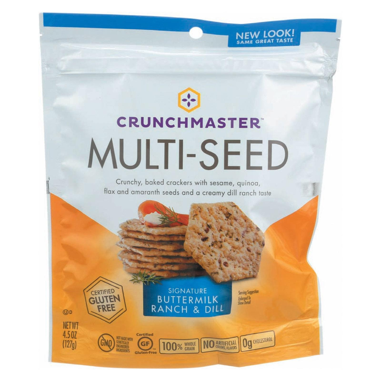 Crunchmaster Multi-seed Cracker - Signature Buttermilk Ranch & Dill - pack of 12 - 4.5 Oz