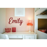Personalized Name Vinyl Decal Sticker Custom Initial Wall Art Personalization Decor Sticker Script Boy Girl Bedroom Children Teen 4 Inches X 12 Inches