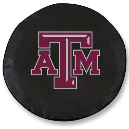 NCAA Tire Cover by Holland Bar Stool - Texas A&M, Black - 29.75'' x 8''