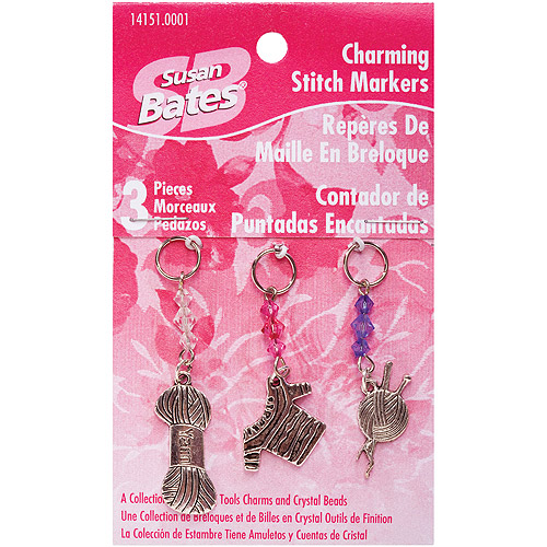 Susan Bates Charming Stitch Markers, 3-Pack