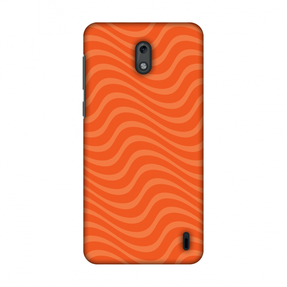 Nokia 2 Case, Premium Handcrafted Printed Designer Hard ShockProof Case Back Cover with Screen Cleaning Kit for Nokia 2 - Carbon Fibre Redux Tangy Orange 10