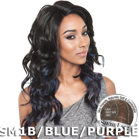 Brown Sugar Human Hair Blend Soft Swiss Lace Wig - BS214 -