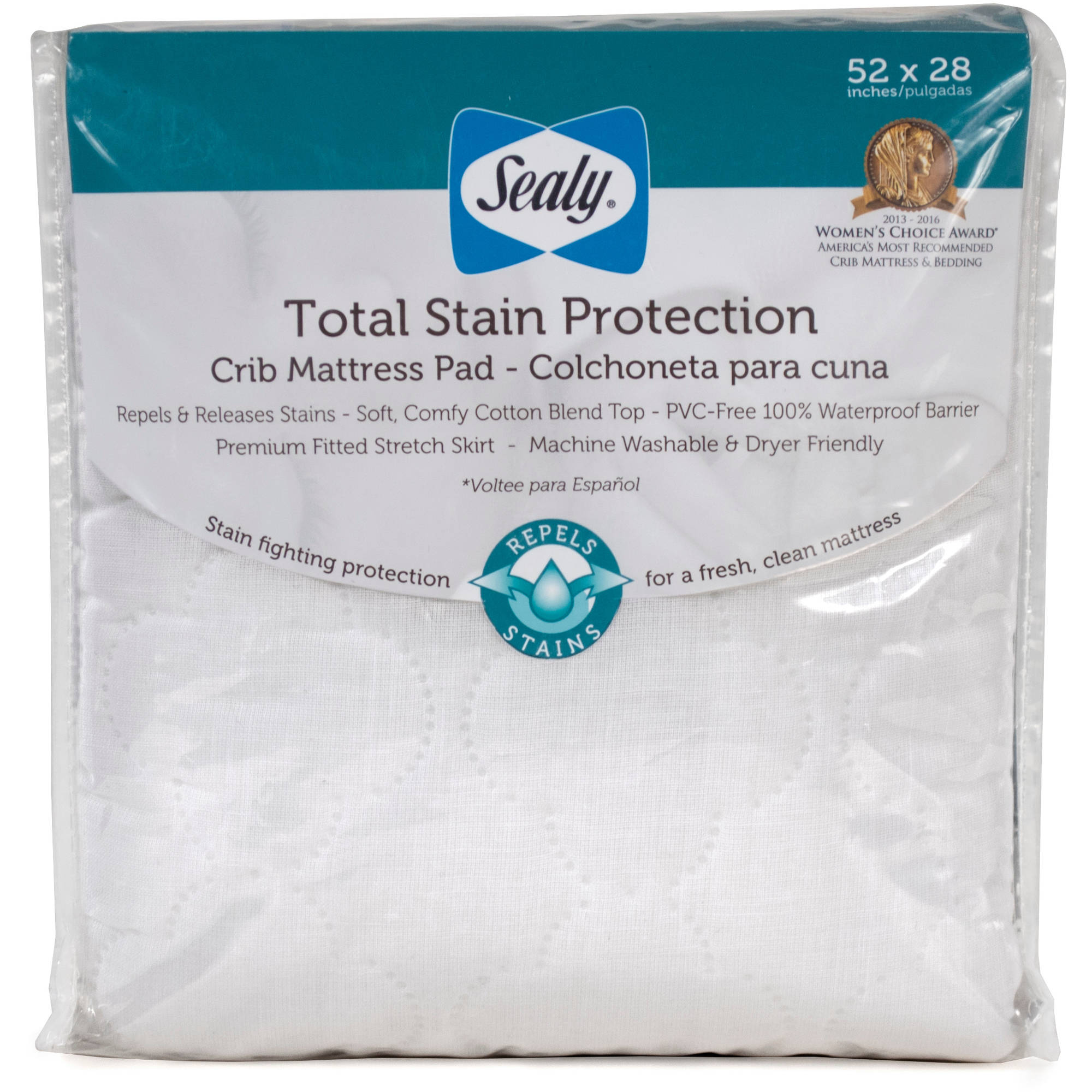 Sealy Total Stain Protection Crib Mattress Pad