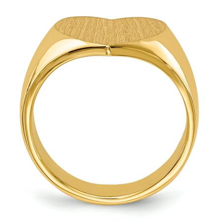 14K Yellow Gold Signet Ring - image 1 de 5