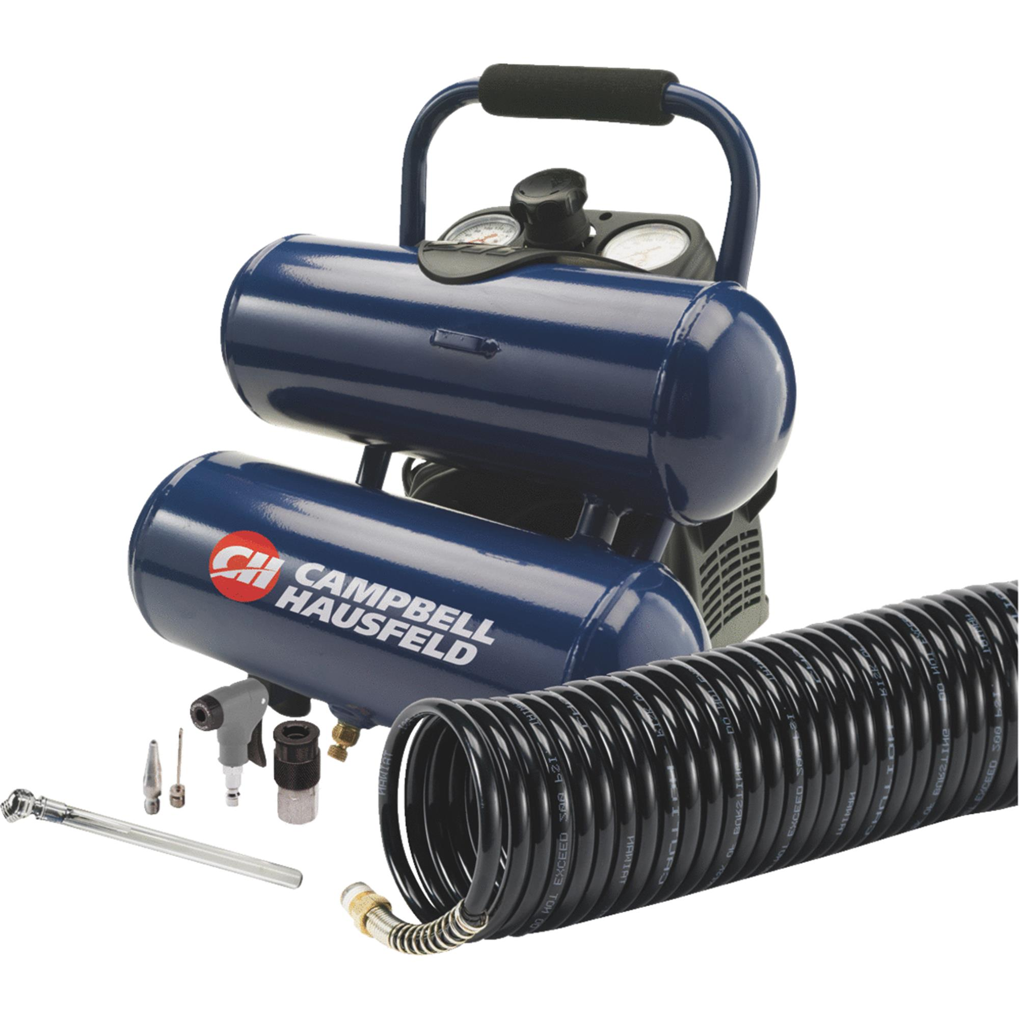 Campbell Hausfeld 2 Gal. Twin-Stack Air Compressor Kit
