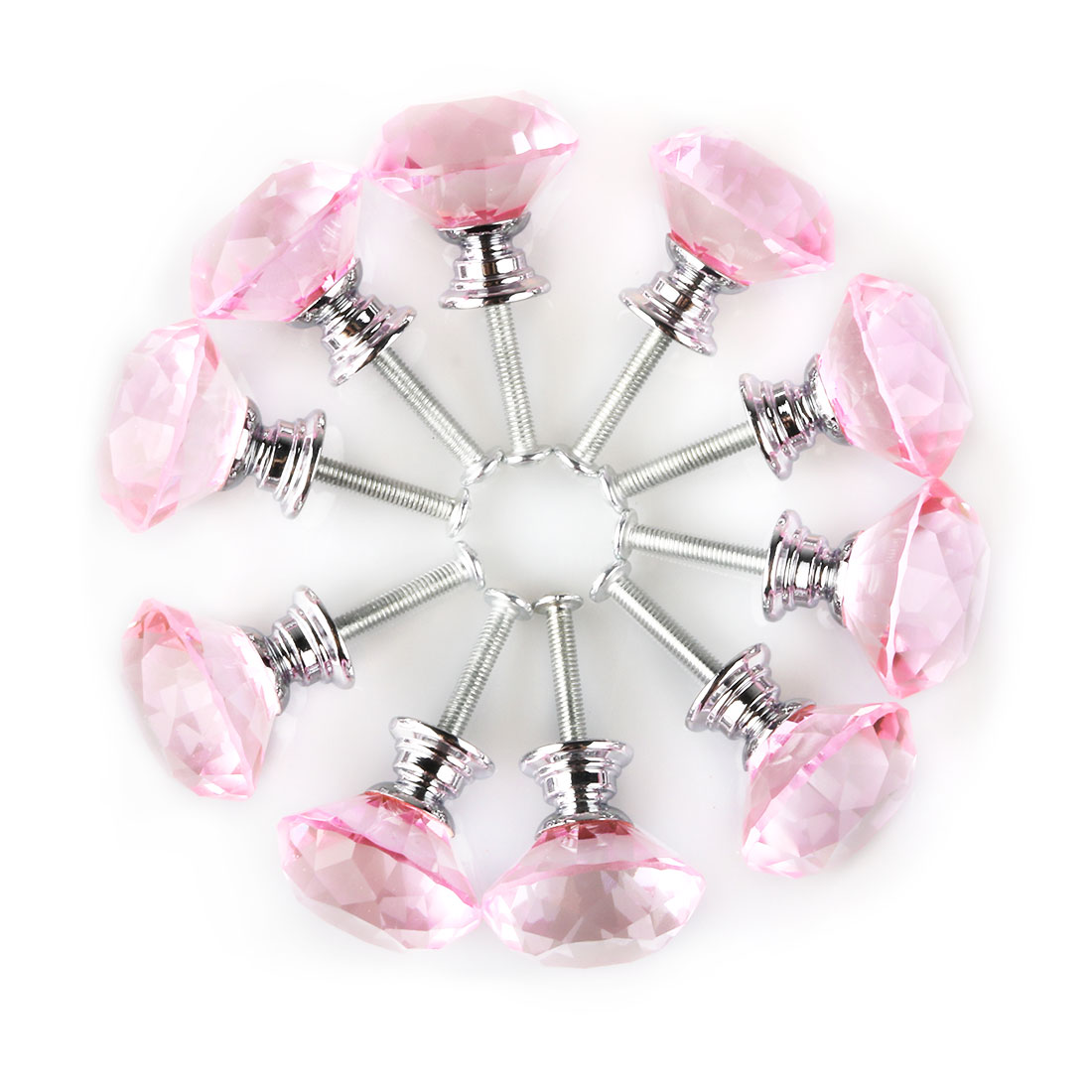 10/20/30/40 pcs 30mm Diamond Crystal Cabinet Drawer Door Knobs Cupboard Pull Handle Knob Accessories