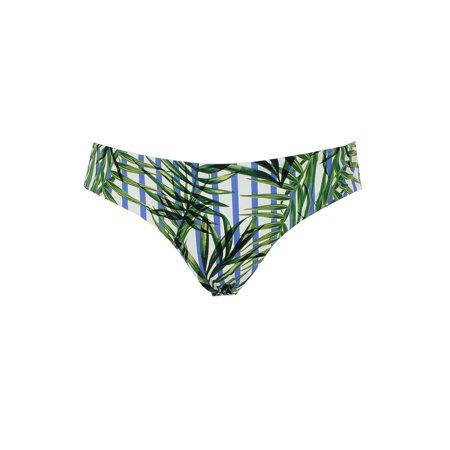 Sport Top Xs Bottom (Red Carter Green Multi Palm Printed Lola Basic Bikini Bottom XS )