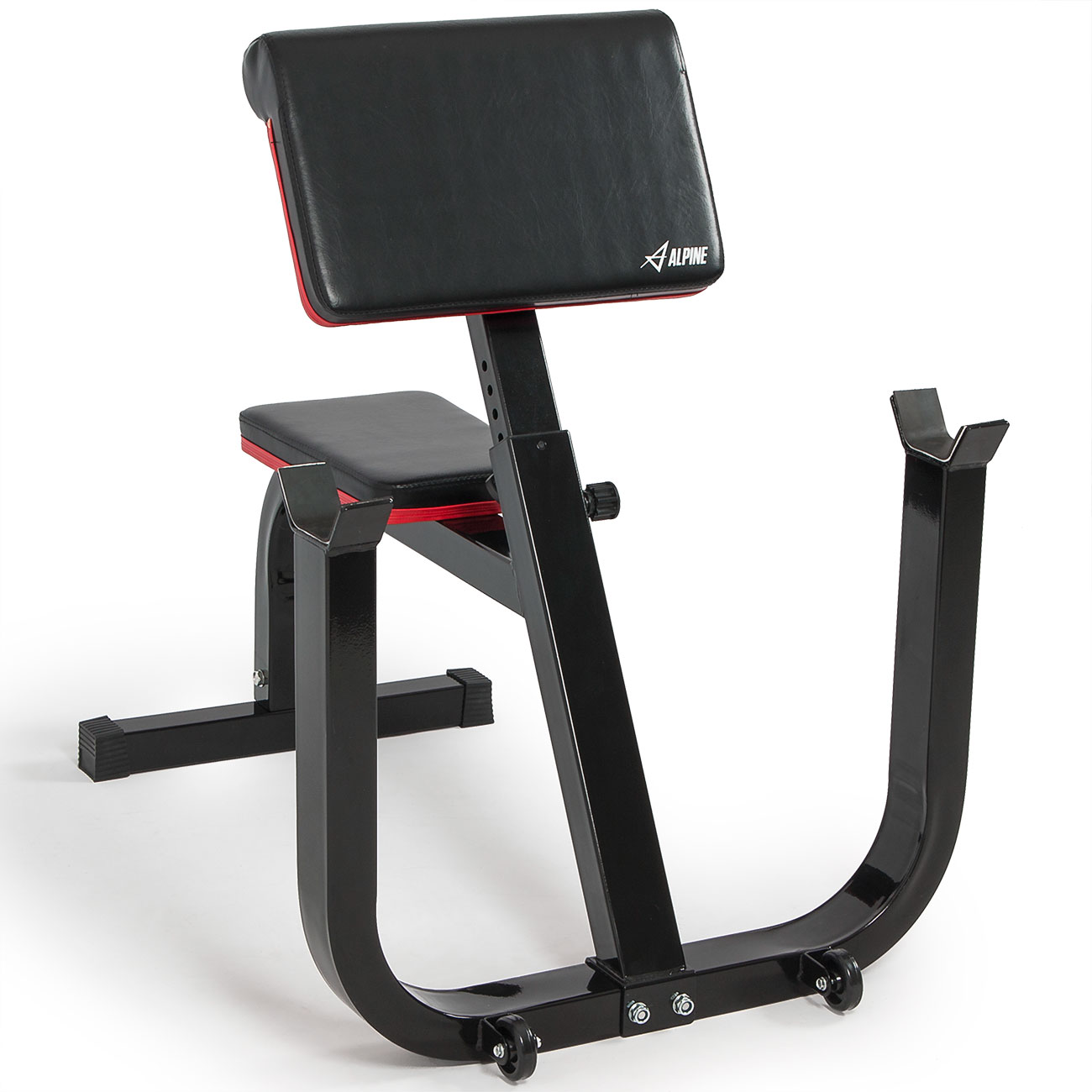 Akonza Seated Preacher Curl Adjustable Height Weight Exercise Bench