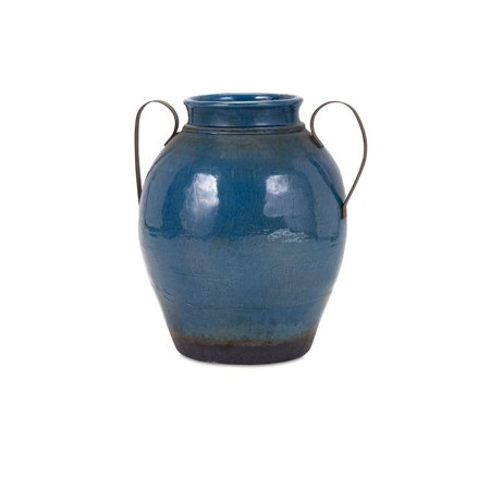 "18.5"" Large Denim Blue ""Harrisburg"" Vase with Metal Handles - image 1 of 1"