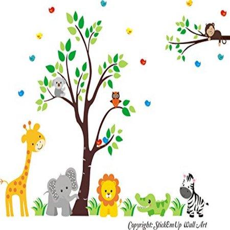 Zoo Animal Wall Decals - Safari and Jungle Wall Stickers - Wall ...