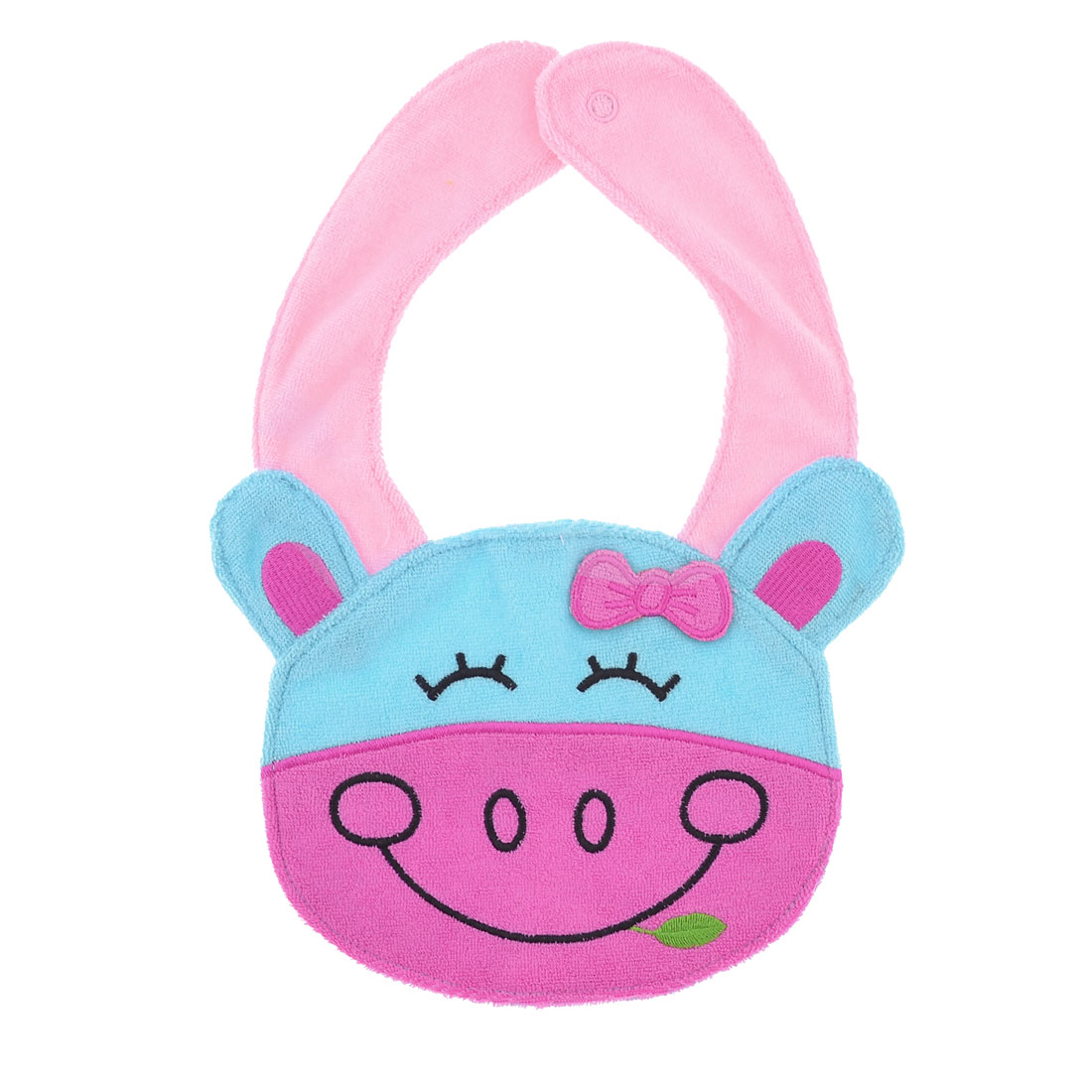 Infant Toddler Pink Blue Pig Design Terry Lunch Bib Tower