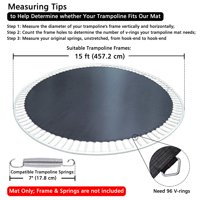 "Yescom Weatherproof Trampoline Mat 96 Rings for 15' Frame 7"" Spring 8R Stitching 13.3'"