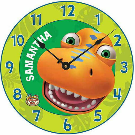 Childs Clock Personalized (Personalized Dinosaur Train Hello Buddy Wall Clock)