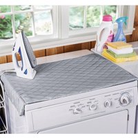 """Houseables Ironing Blanket, Magnetic Mat Laundry Pad, 18.25"""" x 32.5"""", Gray, Quilted, Washer Dryer Heat Resistant Pad, Iron Board Alternative Cover"""