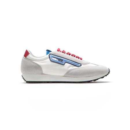 PRADA Men's Suede Retro Trainer Sneaker Shoes White/Grey