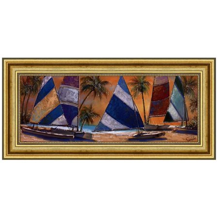 Grand Bay Sails By Unknown Framed Fine Art Print