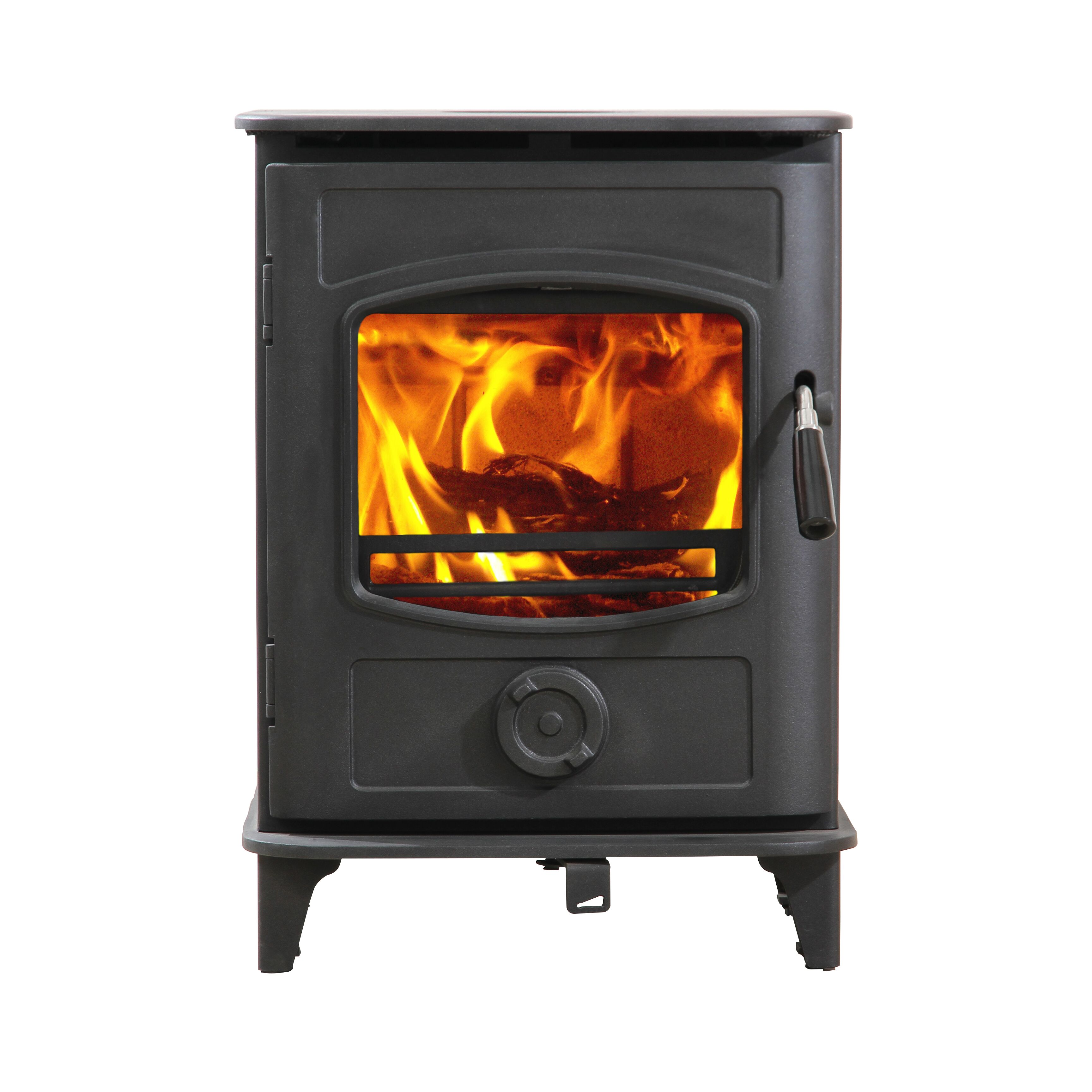 Hiflame Graphite 5 HF905UA UL EPA certified 85% efficiency wood burning stove for homely used