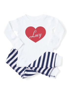 d42a4f170cb06 Product Image CafePress - I Love Lucy Heart - Toddler Long Sleeve Pajama set