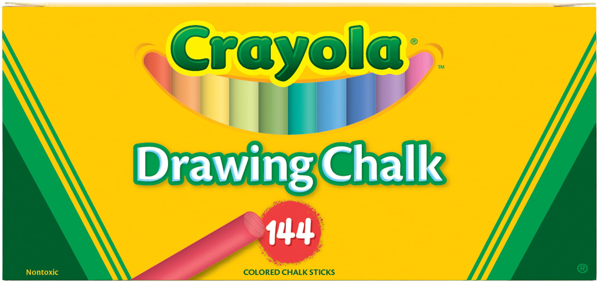 Crayola Drawing Chalk 144 Pkg by Crayola