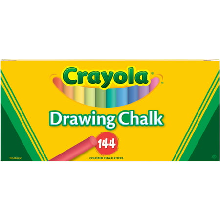 Crayola Colored Drawing Chalk Sticks, 144 Count