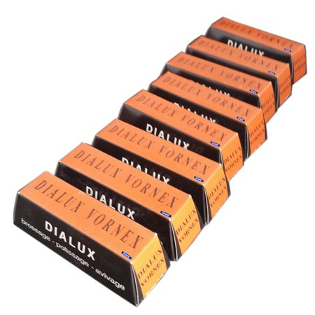 Dialux Orange Vornex Pre-Polish Tripoli Cutting Compound For Metals 8 Bars