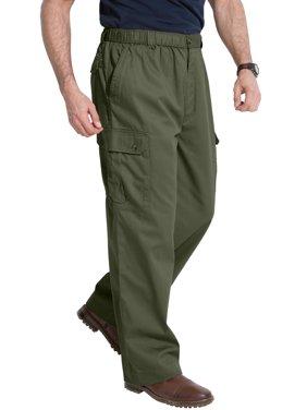 Kingsize Men's Big & Tall Knockarounds Full-elastic Waist Cargo Pants Casual Pants