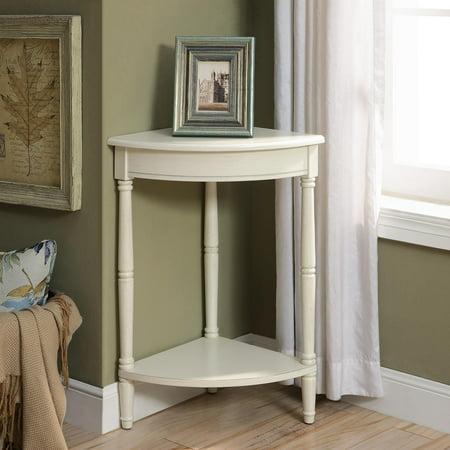 Corrine Antique White Corner - Antique White Corner Table