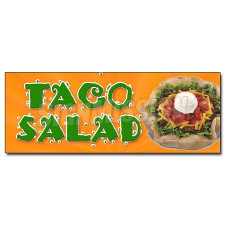 12   Taco Salad Decal Sticker Mexican Food Restaurant Burrito Black Beans Bus