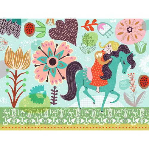 Oopsy Daisy - Horsey Love - Blonde Canvas Wall Art 24x18, Sarah Walsh