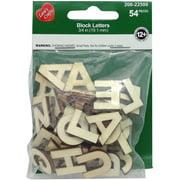 "Wood Alphabet Block Letters .75"" 54/Pkg-Uppercase"