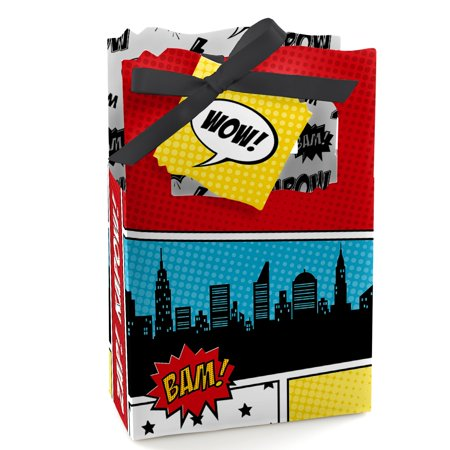 BAM! Superhero - Baby Shower or Birthday Party Favor Boxes - Set of 12