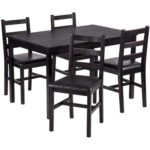 Dining Table Set 5 Pieces Kitchen, 4 Dining Room Chairs