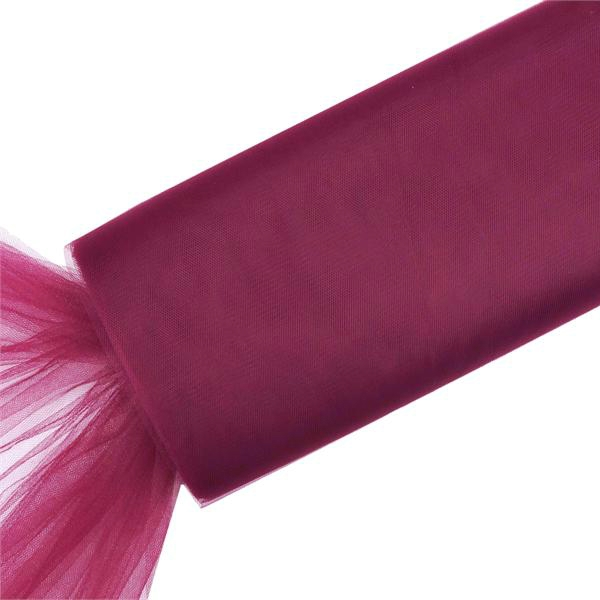 "54"" x 120 feet Extra Large Wedding Tulle Bolt Party Decorations - Burgundy"