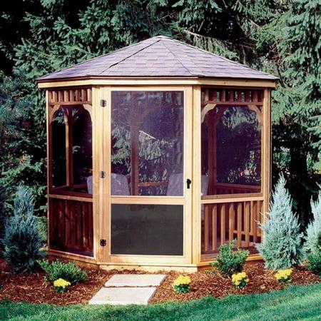 Handy Home San Marino 10 ft. - Gazebo Screens & Door (Good Directions Gazebo Wood Cupola)