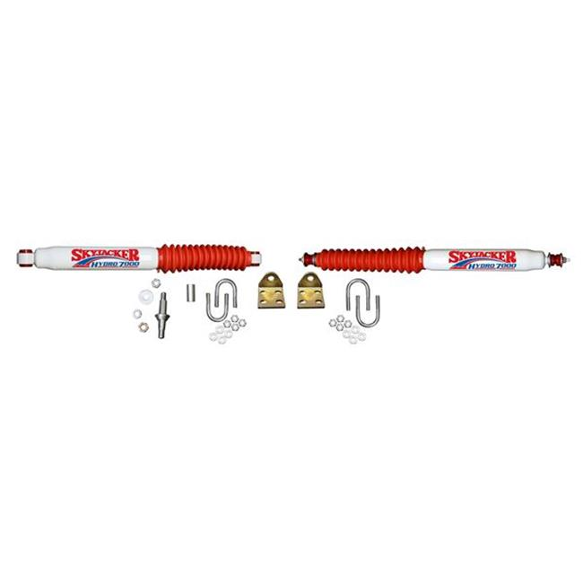 SKYJACKER 7219 Dual Steering Stabilizer, White With Red Shock Boot And Bracket - image 1 of 1